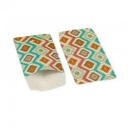 100 petits sachets cadeaux papier 10x6cm motifs ethniques multicolores - 6367