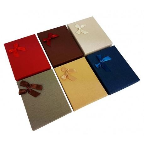 6 écrins parures 6 couleurs aveec noeud ruban - 6363