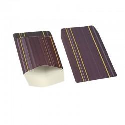 100 petits sachets cadeaux papier 10x6cm violettes à rayures - 6368