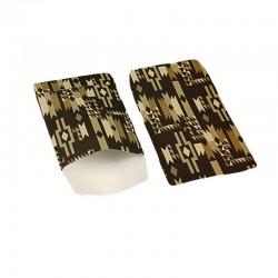 100 petits sachets cadeaux papier 10x6cm motifs ethniques marron - 6370