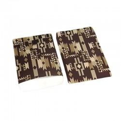 Lot de 100 sachets cadeaux marron motifs ethniques 17x11cm - 6390