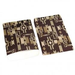 Lot de 100 pochettes cadeaux 24x16cm marron à motifs éthniques - 6397