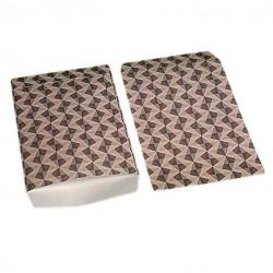 Lot de 100 pochettes cadeaux 24x16cm motif scandinave - 6398