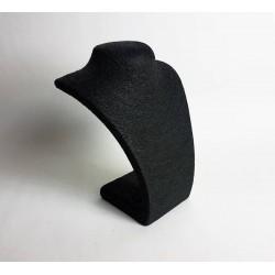 Buste collier en raphia couleur noir 27cm - 6486