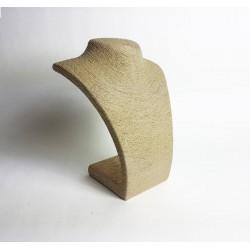 Buste collier en raphia couleur écru 27cm - 6488