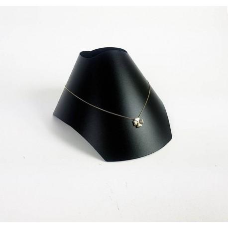 Buste repliable noir en plastique flexible 10x17cm - 6508