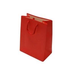 12 grands sacs cadeaux rouges 32x26x12cm - 6537