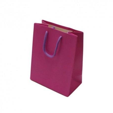 12 grands sacs cadeaux rose magenta 32x26x12cm - 6538