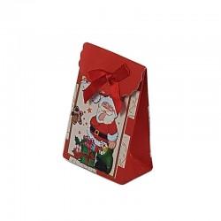 12 petites pochettes cadeaux rouges motifs Père Noël 10.5x7.5x4cm - 6548