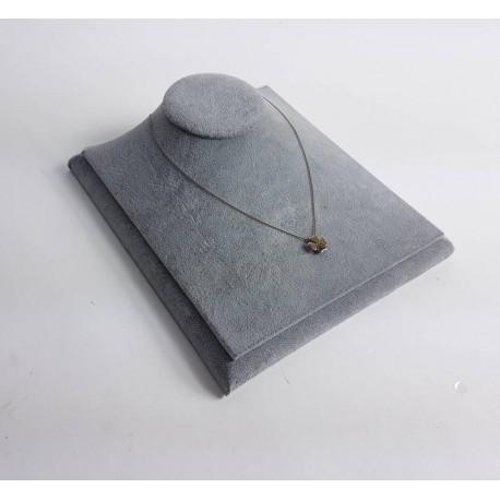 Buste bijoux présentation vitrine en velours gris - 6573