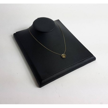 Buste bijoux présentation vitrine en simili cuir noir - 6575