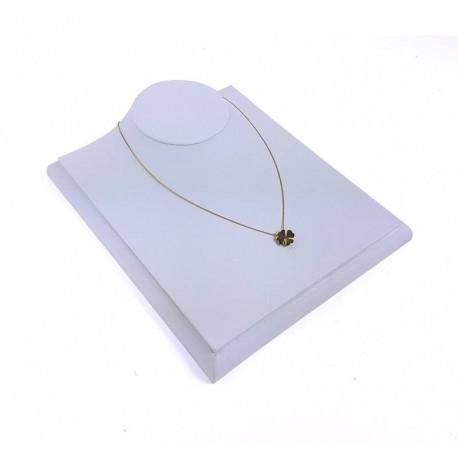 Buste bijoux présentation vitrine en simili cuir blanc - 6574