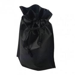 12 bourses non-tissées de couleur noir uni 24.5x28x8cm - 6576