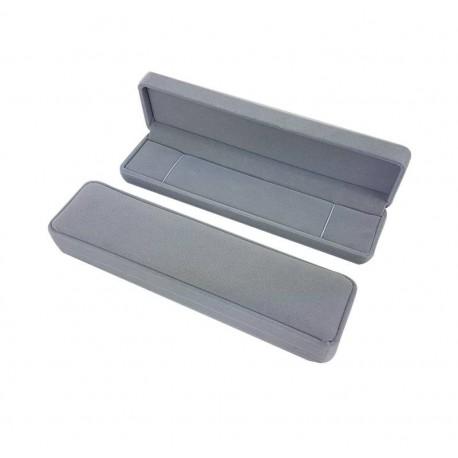 1 écrin en velours gris pour bracelet ou chaîne - 6584