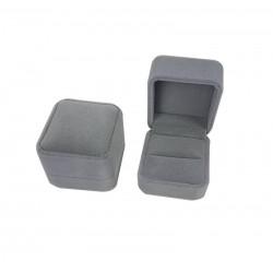1 écrin en velours gris pour bague ou pour boucles d'oreilles - 6585