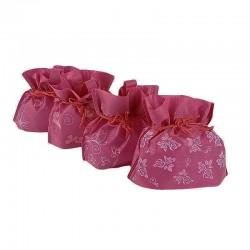 Lot de 12 pochettes non tissées couleur rose foncé 26x20x11cm - 6626
