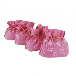 Lot de 12 pochettes non tissées couleur rose clair 26x20x11cm - 6628