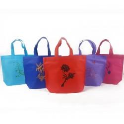 Lot de 50 sacs cabas non tissés 5 couleurs  26x10x30cm - 6633