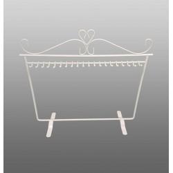 Porte bijoux en métal blanc pour 20 colliers et chaînes - 4675