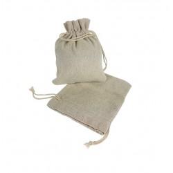 25 petites bourses en coton couleur écru 8x7cm - 6499