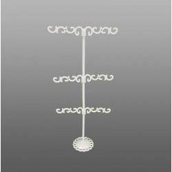Porte bijoux en métal blanc pour boucles d'oreilles (9 paires) - 6344