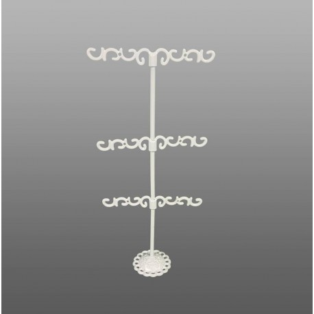 Porte bijoux en métal blanc pour boucles d'oreilles