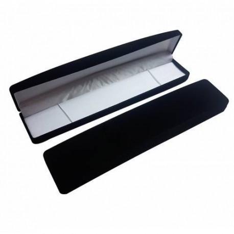 Lot 12 écrins en velours noir pour bracelet ou chaîne - 10046x12