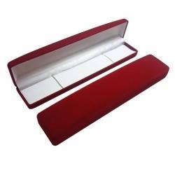 Lot 12 écrins en velours rouge pour bracelet ou chaîne - 10047x12