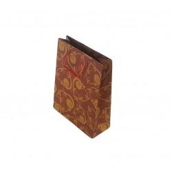12 petits sacs kraft couleur rouge motif coeurs 14.5x11.5x5.5cm - 6666