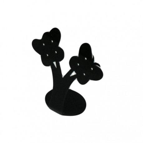 Porte bijoux acrylique noir 4 paires de boucles 9.5x8.5x4cm - 6716