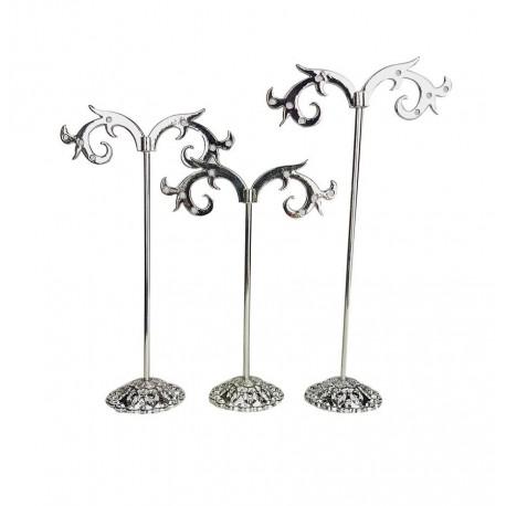 3 Arbres à bijoux en métal chromé pour 4 paires de boucles d'oreilles - 6644