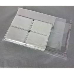 Lot de 100 sachets transparents à rabat adhésif 30x23cm - 6764