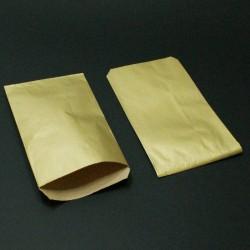 Boîte de 250 sachets cadeaux kraft doré 11+5x21cm - 8021