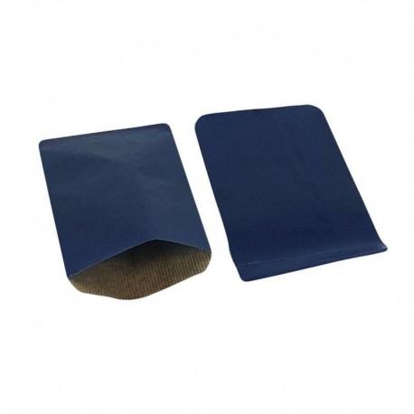 Boîte de 250 sachets cadeaux kraft bleu foncé 11+5x21cm - 8027