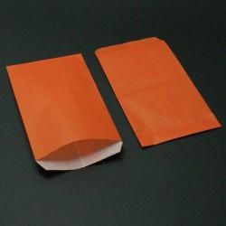 250 grandes pochettes cadeaux kraft orange 15+6x31cm - 8032