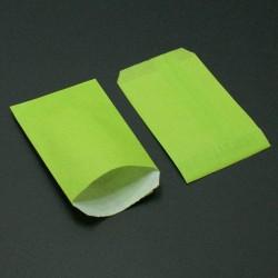 250 grandes pochettes cadeaux kraft vert anis 15+6x31cm - 8034