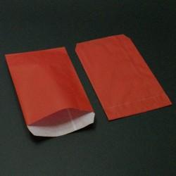 250 grandes pochettes cadeaux kraft rouge 15+6x31cm - 8036