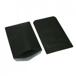 250 grandes pochettes cadeaux kraft noir 15+6x31cm - 8039