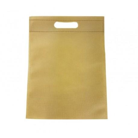 12 sacs non-tissés couleur beige uni - 6772