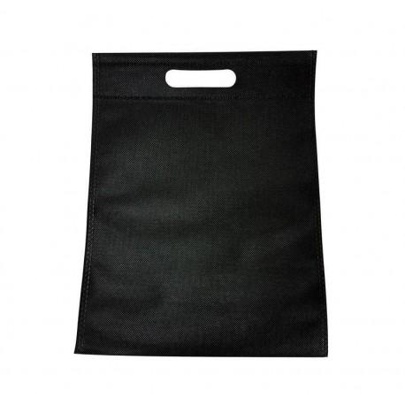 12 sacs non-tissés noir uni - 6775