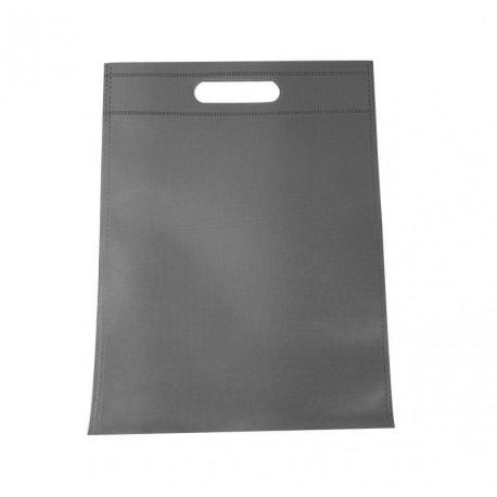 12 sacs non-tissés gris uni - 6776