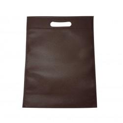 Lot de 12 sacs intissés de couleur marron chocolat - 6778