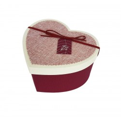 Petit coffret cadeaux rouge en forme de coeur 16.5x14x10cm - 6801p