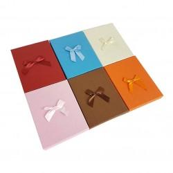 6 écrins parures 6 couleurs avec noeud cadeaux - 10051