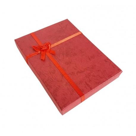 6 grands écrins de couleur rouge pour parure 15x12cm - 10054