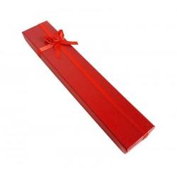 12 écrins bijoux couleur rouge coquelicot pour bracelets 20.5x4cm - 10053