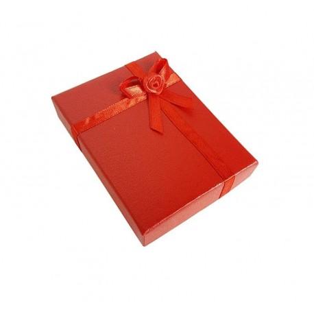 12 écrins bijoux de couleur rouge coquelicot 8.5x6.5cm - 10052