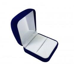 1 écrin en velours bleu pour bague ou pour boucles d'oreilles - 10060