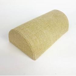 Support bracelets demi cylindre en toile de jute beige - 6811