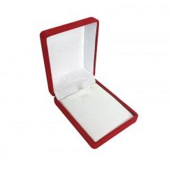 1 écrin bijoux en velours rouge pour chaîne 6x7.5x3cm - 10059